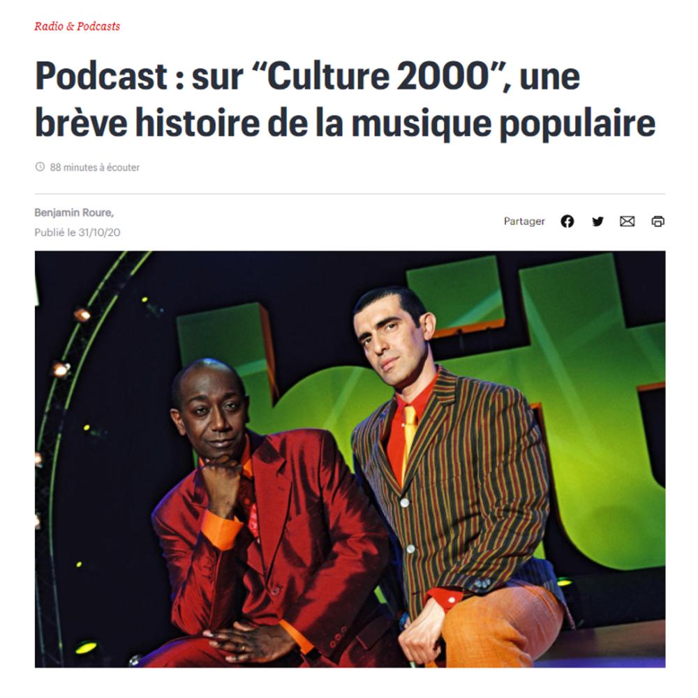 """Sur """"Culture 2000"""", une brève histoire de la musique populaire"""